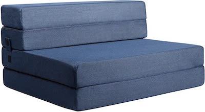 Milliard- Espuma Colchón y sofá Cama Plegable en Tres Partes 11,5 cm Sillón Cama o colchoneta